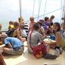 A napközis tábor egész napos kirándulásra ment Balatonfüredre és Tihanyba.