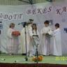 Jól szerepeltek az általános iskola alsó osztályos tanulói és az iskola énekkara a Nyugdíjasok Karácsonyán.