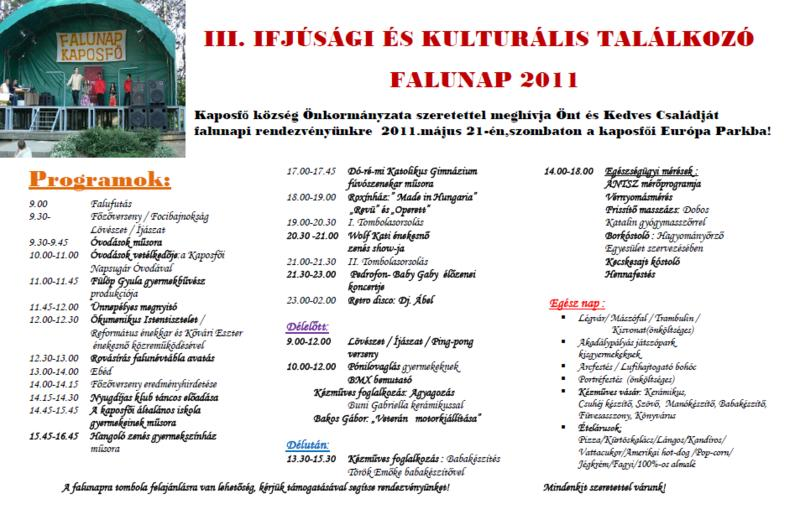 Plakát Falunap 2011